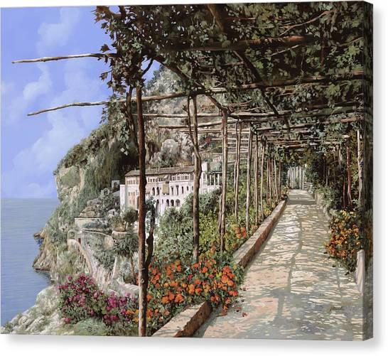 Summer Vacation Canvas Print - L'albergo Dei Cappuccini-costiera Amalfitana by Guido Borelli