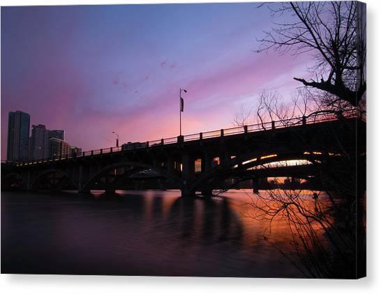 Lamar Blvd Bridge Canvas Print