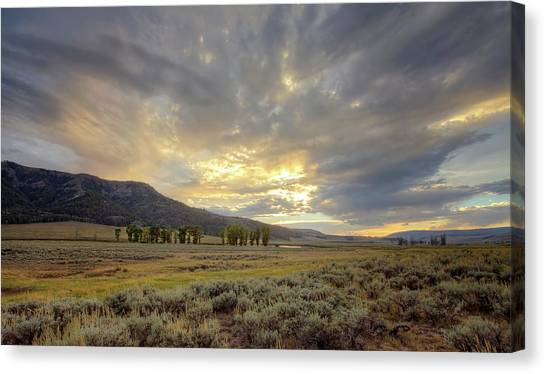 Lamar Valley Sunset Canvas Print