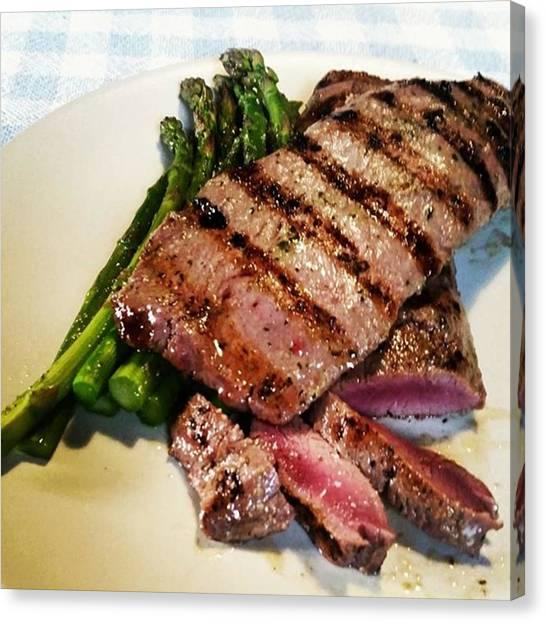 Asparagus Canvas Print - #lamb With #asparagus ..soooo Tender by Smitsi Batty
