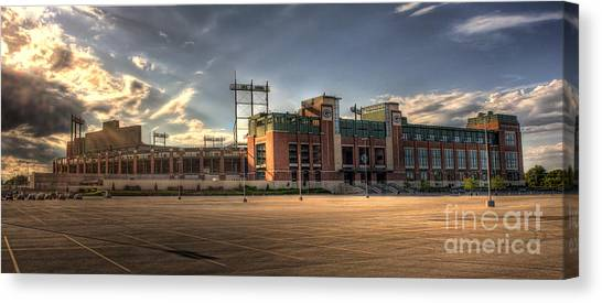 Aaron Rodgers Canvas Print - Lambeau Field by Joel Witmeyer