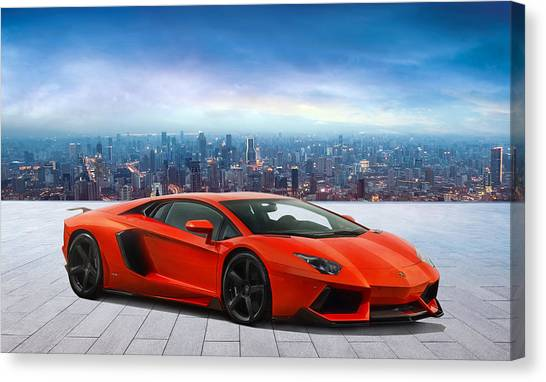 Warehouses Canvas Print - Lambo Cityscape by Peter Chilelli