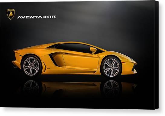Italian Canvas Print - Lamborghini Aventador by Douglas Pittman