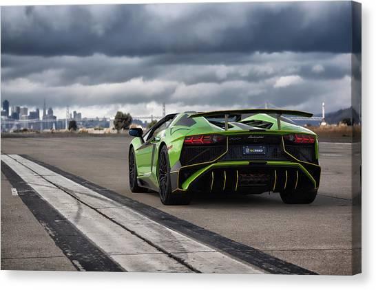 #lamborghini #aventadorsv #superveloce #roadster Canvas Print