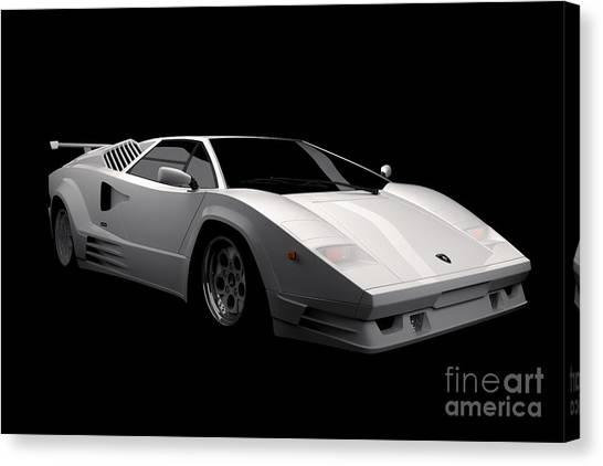 Lamborghini Countach 5000 Qv 25th Anniversary Canvas Print