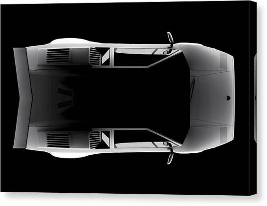 Lamborghini Countach 5000 Qv 25th Anniversary - Top View Canvas Print