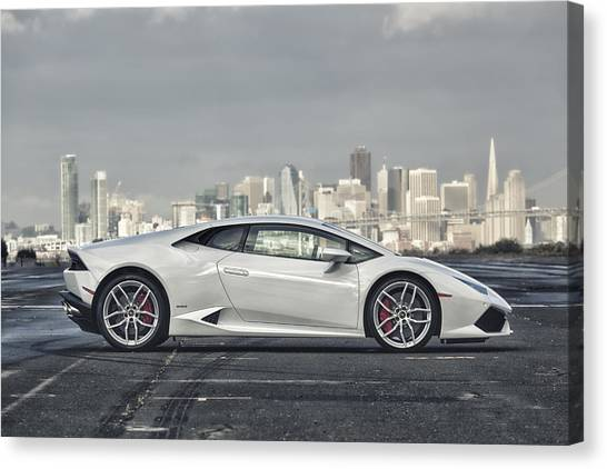 Canvas Print featuring the photograph Lamborghini Huracan by ItzKirb Photography