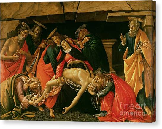 Botticelli Canvas Print - Lamentation Of Christ by Sandro Botticelli