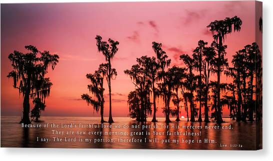 Lamentations 3 Canvas Print