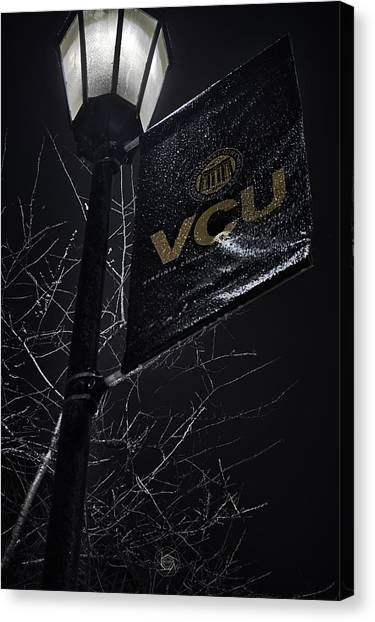 Virginia Commonwealth University Vcu Canvas Print - Lamp And Banner by Brian Archer