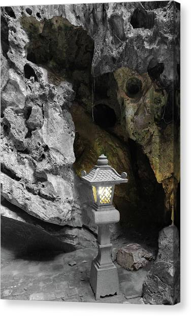 Lamp In Marble Mountain Canvas Print