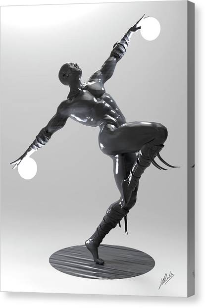 Imagery Canvas Print - Lamp Man 04 by Joaquin Abella