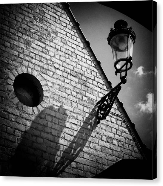 Street Lamp Canvas Print - Lamp With Shadow by Dave Bowman