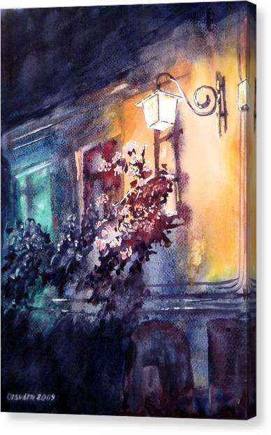 Lamplight Canvas Print by Gyorgy Ozsvath