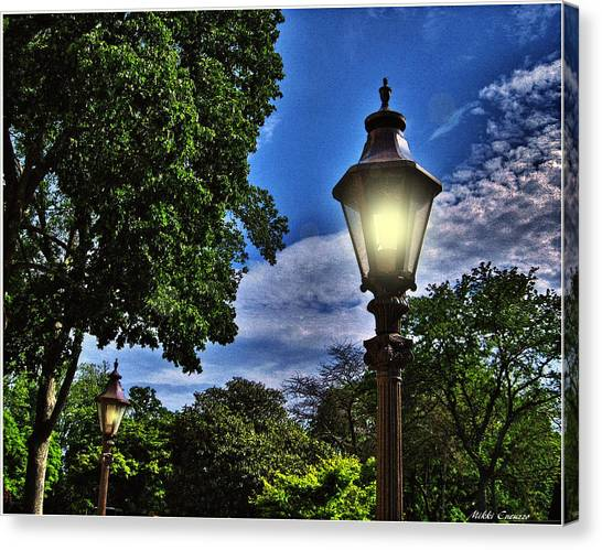 Lamposts Canvas Print