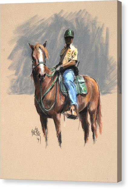 Lance With National Park Service Volunteer Aboard Canvas Print by Paul Miller