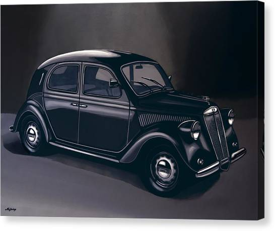 Oldtimers Canvas Print - Lancia Ardea 1939 Painting by Paul Meijering
