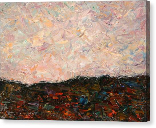 Impressionism Canvas Print - Land And Sky by James W Johnson