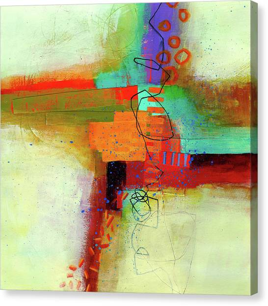 Woods Canvas Print - Land Line #1 by Jane Davies