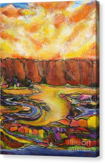 Land Of Silence Canvas Print by Chaline Ouellet