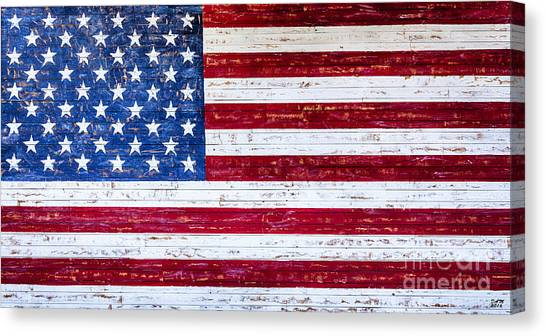 Land Of The Free,american Flag Canvas Print,photographic Print,art Print,framed Print,greeting Card, Canvas Print