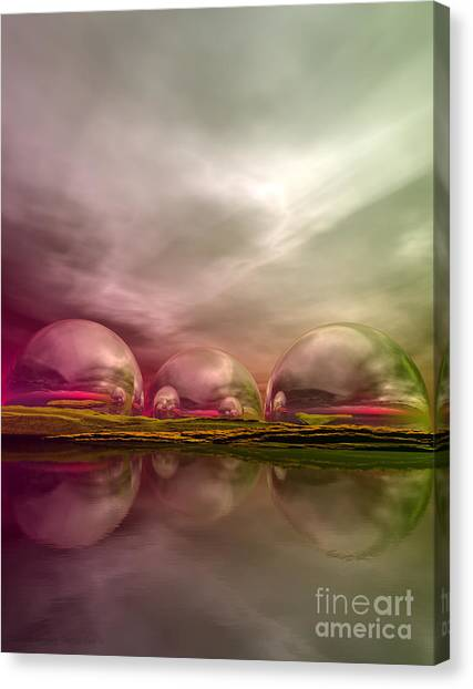 Canvas Print featuring the digital art Land Of The Lost by Sandra Bauser Digital Art