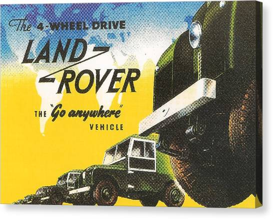 Offroading Canvas Print - Land Rover by Georgia Fowler