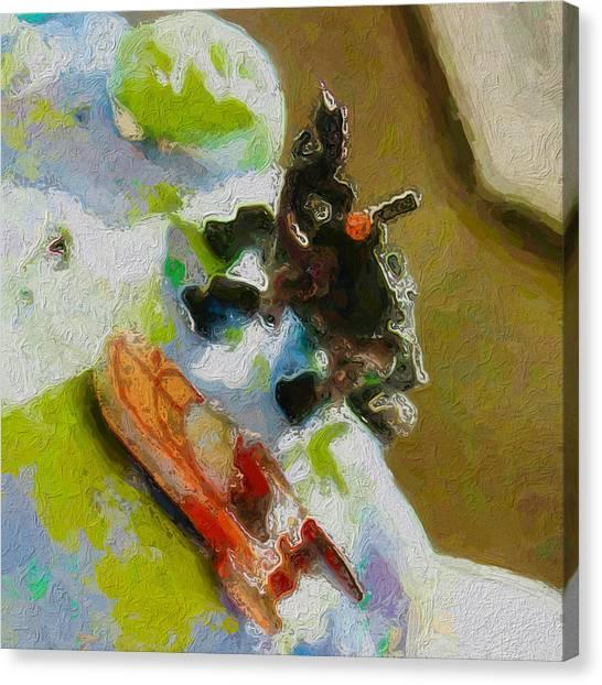 Canvas Print - Land Speeder And Dino Take On The Floatsam by Judy Bernier