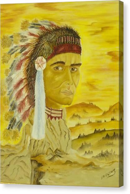 Land Warrior Canvas Print by Ron Sargent