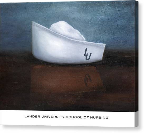 Lander University School Of Nursing Canvas Print