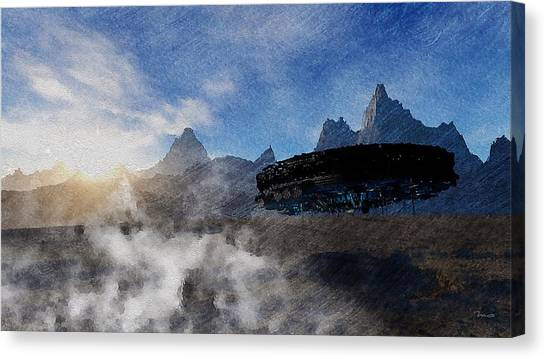 Landing Site Canvas Print