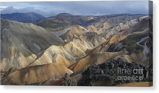 Landmannalaugar Rhyolite Mountains Iceland Canvas Print