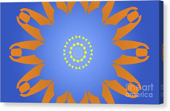 Arte Canvas Print - Landscape Abstract Blue, Orange And Yellow Star by Drawspots Illustrations