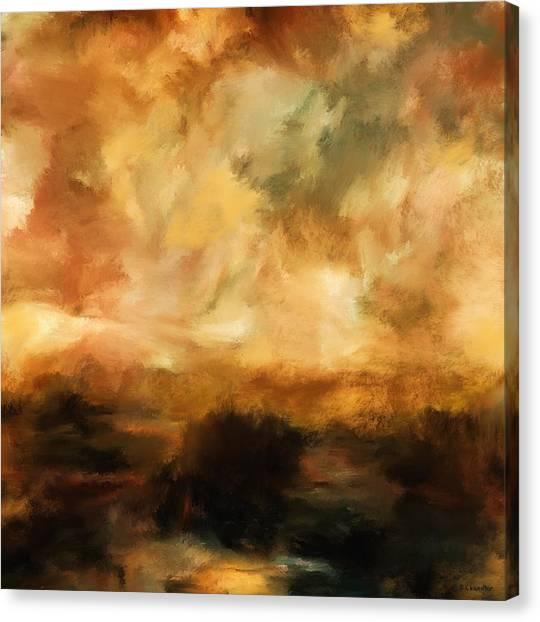 Landscape At Sunset Canvas Print
