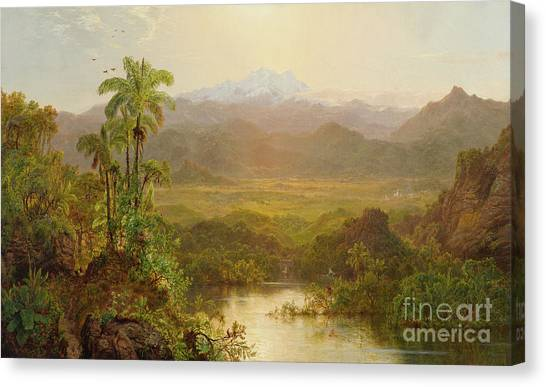 Andes Mountains Canvas Print - Landscape In Ecuador, 1859 by Louis Remy Mignot