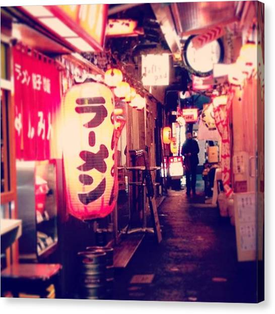 Harmonicas Canvas Print - #landscape #street #tokyo #kichijoji by Erin Takahashi