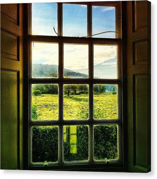 Beautiful Canvas Print - #landscape #window #beautiful #trees by Samuel Gunnell