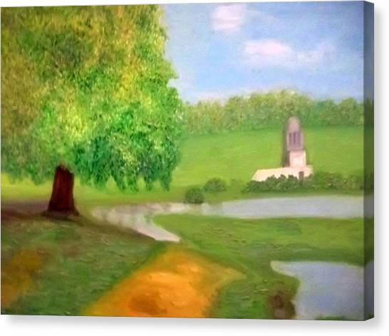 Landscape With Luxuriant Tree And Folly Canvas Print