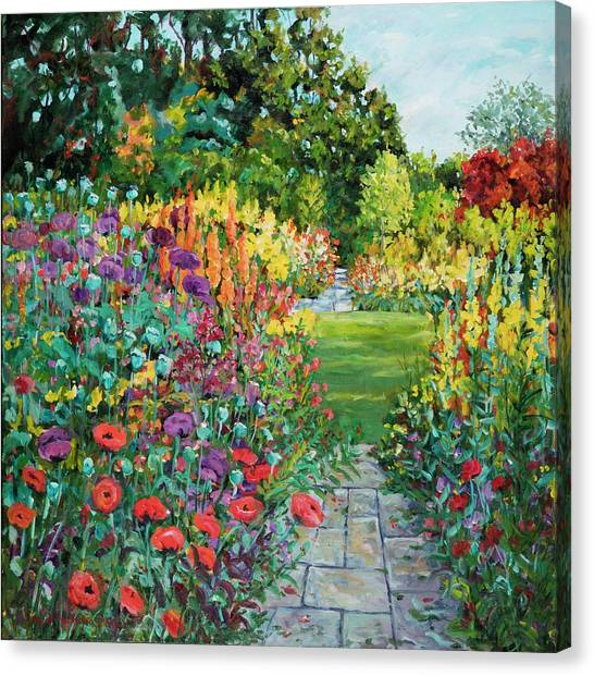 Landscape With Poppies Canvas Print