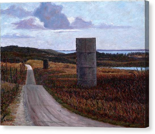 Landscape With Silos Canvas Print