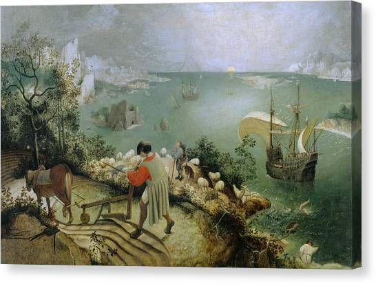 Landscape With The Fall Of Icarus Canvas Print
