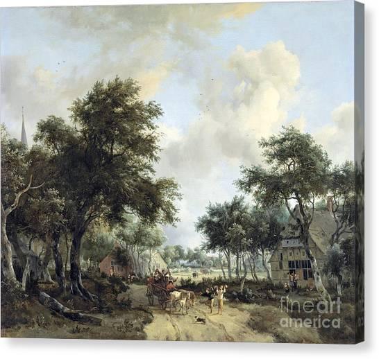 Rijksmuseum Canvas Print - Landschap Met Vrolijk by MotionAge Designs