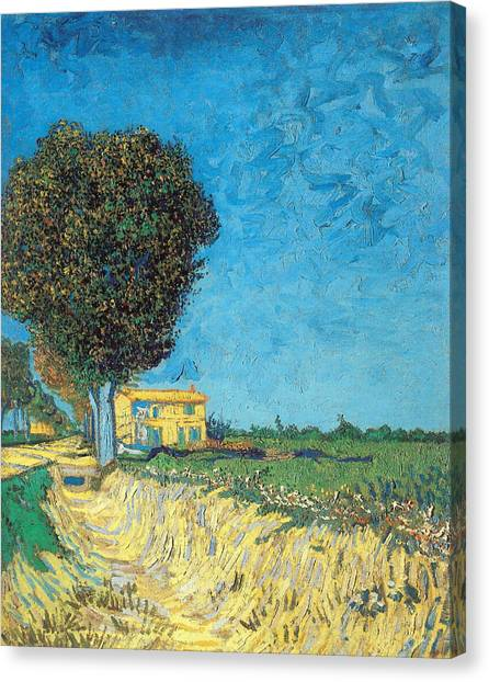 Canvas Print featuring the painting Lane Near Arles by Van Gogh
