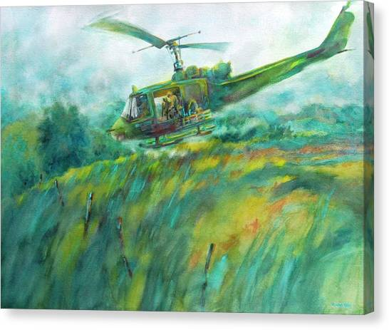 Special Forces Canvas Print - Lang Vei Liftoff by Virgil Carter