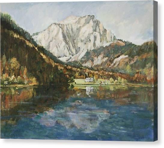Langbathsee Austria Canvas Print