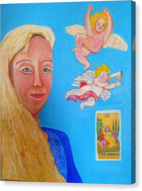 L'ange Canvas Print