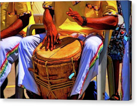 Djembe Canvas Print - Language Of The Drum by David Coleman