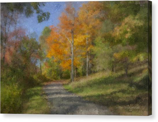 Langwater Path In October Canvas Print