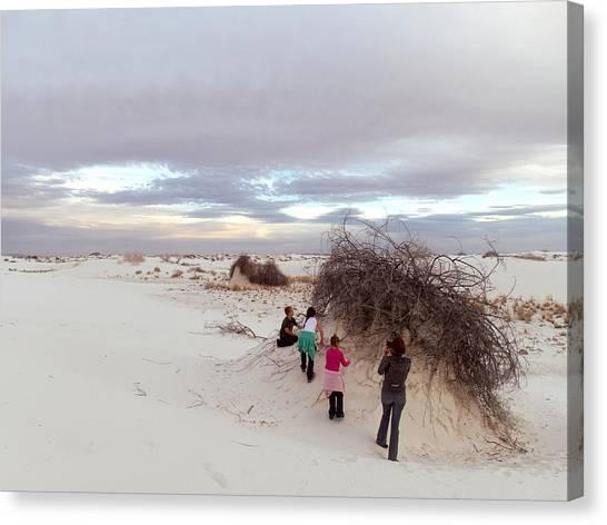 Exploring The Dunes Canvas Print