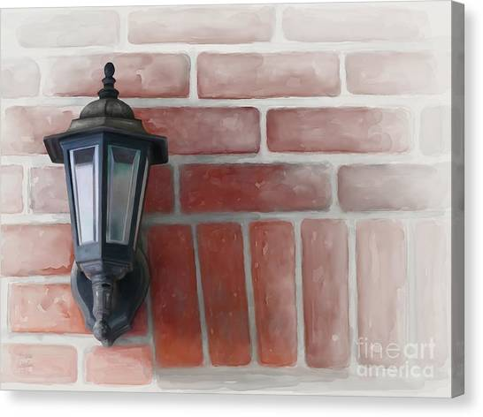 Canvas Print featuring the painting Lantern by Ivana Westin